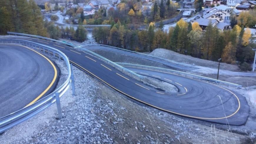 Hautes-Alpes : route provisoire du Pas de l'Ours, fin des fermetures ponctuelles dès ce vendredi