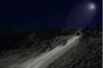Hautes-Alpes : descendre la piste de Chabrières en VTT de nuit, le projet d'Eric Barone