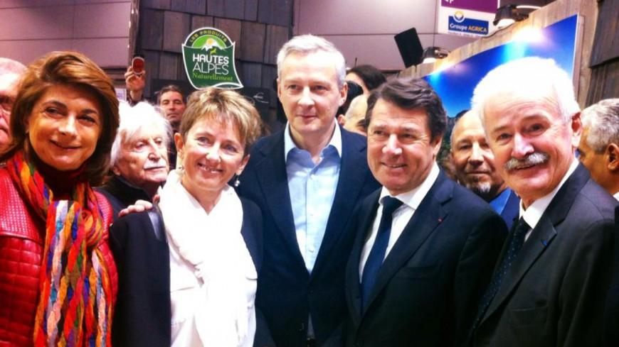 Région PACA : C.Estrosi aux côtés de B. Le Maire au Salon de l'agriculture sur le stand des Hautes-Alpes