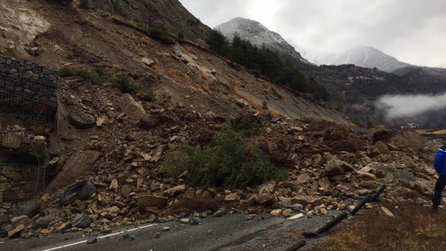 Hautes-Alpes : la RN 94 fermée suite à un éboulement
