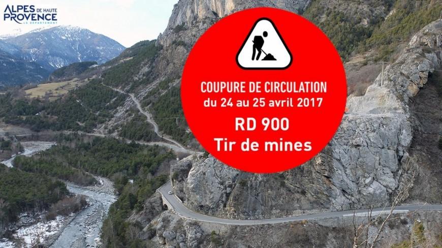 Alpes de Haute-Provence : coupure totale de la circulation sur la RD 900 à Méolans-Revel lundi