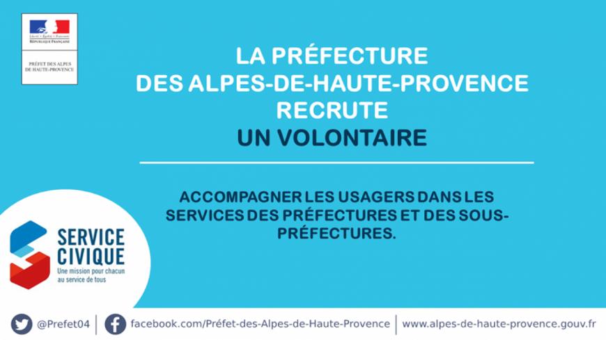 Alpes de Haute-Provence : la préfecture recherche un volontaire pour le Service Civique
