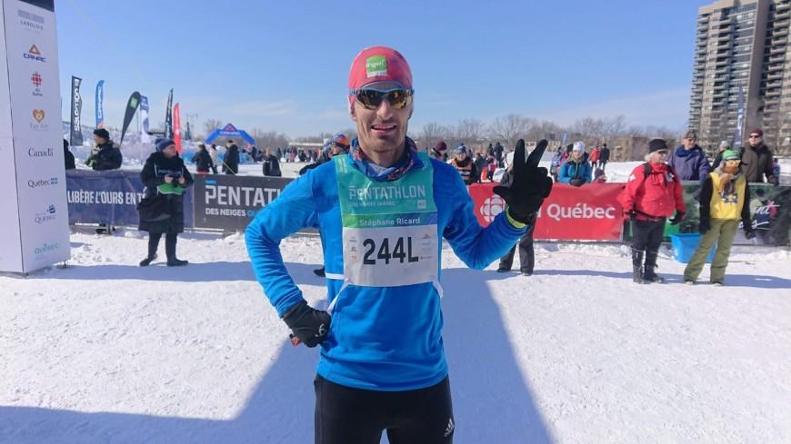 Hautes-Alpes : Stéphane Ricard 3ème au Pentathlon des Neiges à Québec