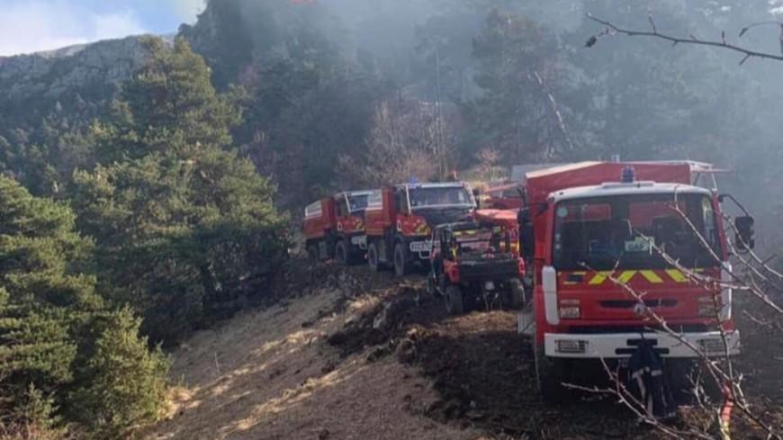 Alpes de Haute-Provence : l'incendie à Prads-Haute-Bléone n'est toujours pas maîtrisé