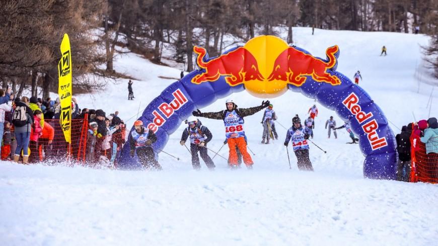 Hautes-Alpes : 275 participants pour le Red Bull tout shuss à Risoul