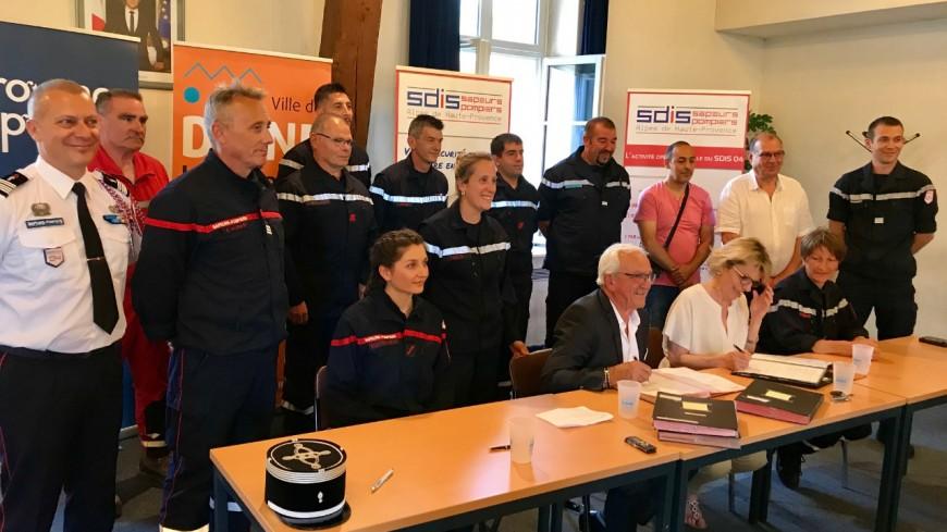Alpes de Haute-Provence : des conventions de disponibilité en faveur des pompiers volontaires