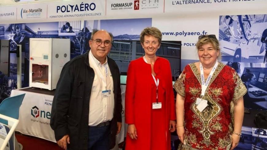 Hautes-Alpes : la sénatrice P. Morhet-Richaud au Salon International de l'Aéronautique du Bourget