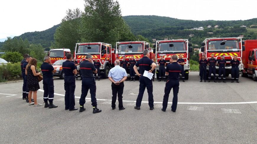 Hautes-Alpes : 22 pompiers sur le départ, direction la Corse