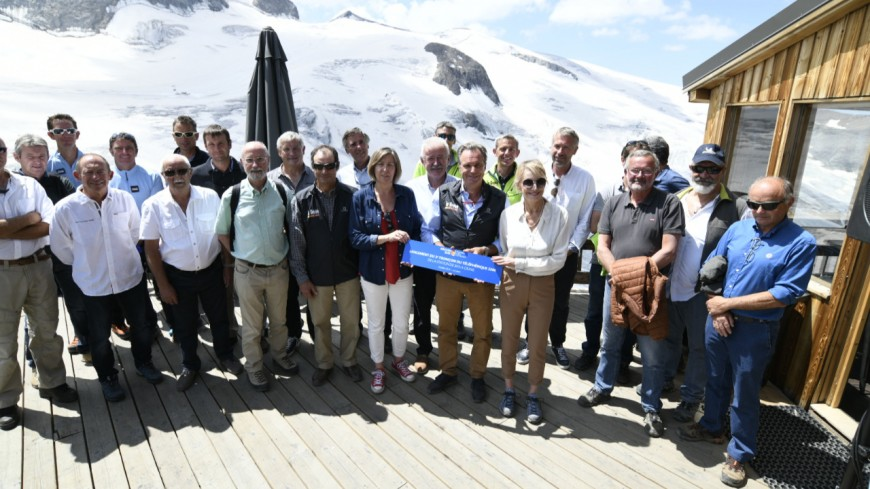 REGION : téléphérique de la Meije, R. Muselier est venu présenter le projet du troisième tronçon