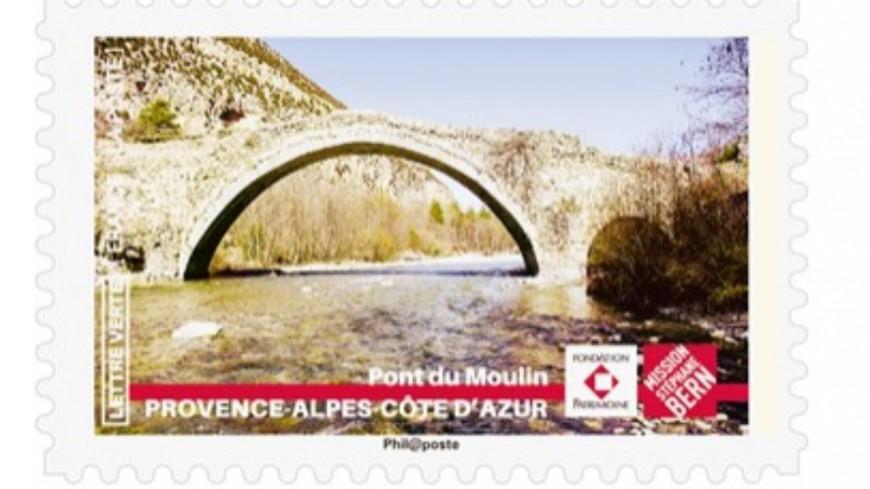 """Alpes de Haute Provence : création d'un un timbre """"Pont du Moulin"""""""