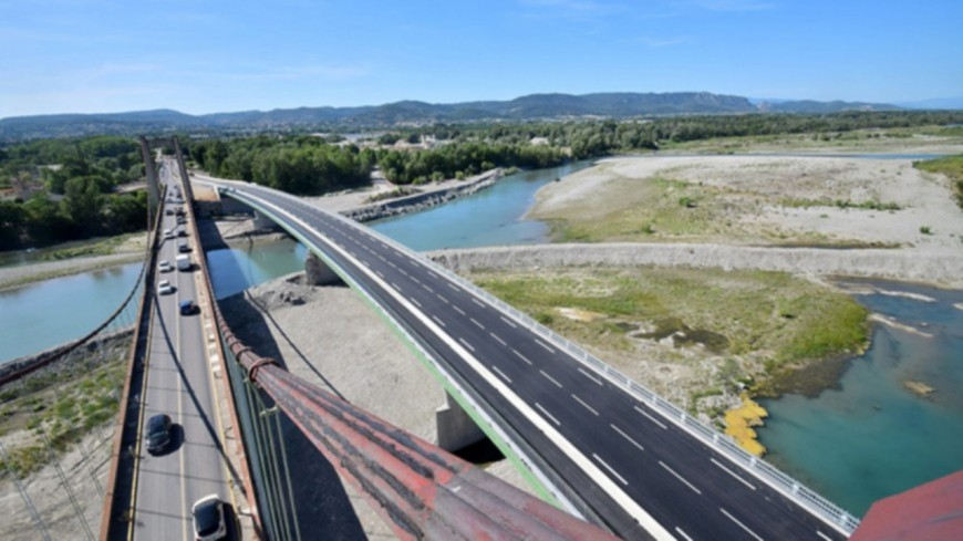 Alpes de Haute Provence : le nouveau pont sur la Durance inauguré ce vendredi