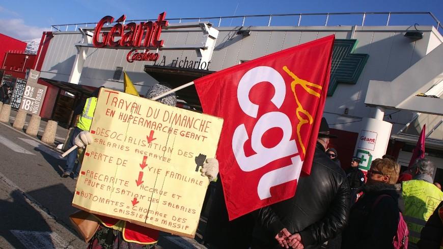 Hautes-Alpes : 6ème mobilisation devant Géant Casino