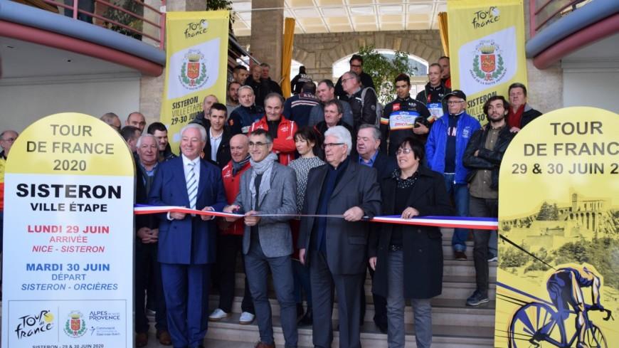 Alpes de Haute-Provence : L. Jalabert à Sisteron pour le Tour de France