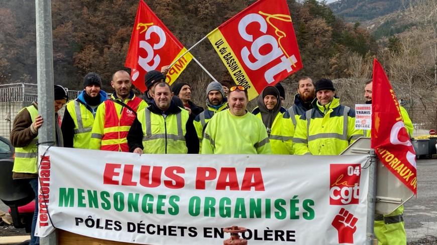 Alpes de Haute-Provence : les éboueurs de nouveau en grève à Digne