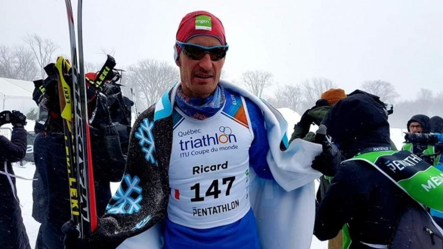 Hautes Alpes : Stéphane Ricard s'attaque au triathlon d'hiver au Canada