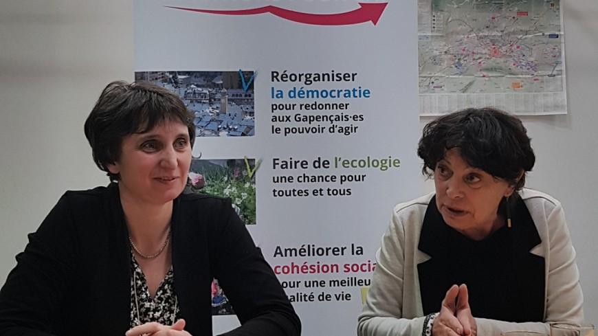 Hautes-Alpes : Michèle Rivasi en visite au local de campagne « d'Ambitions pour Gap »