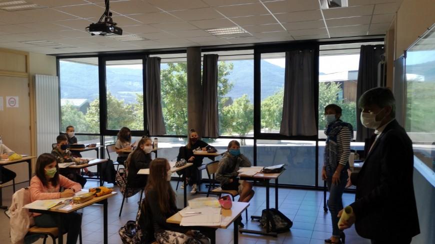 Hautes-Alpes : Petite reprise ce lundi au collège Simone Veil de La Bâtie-Neuve.