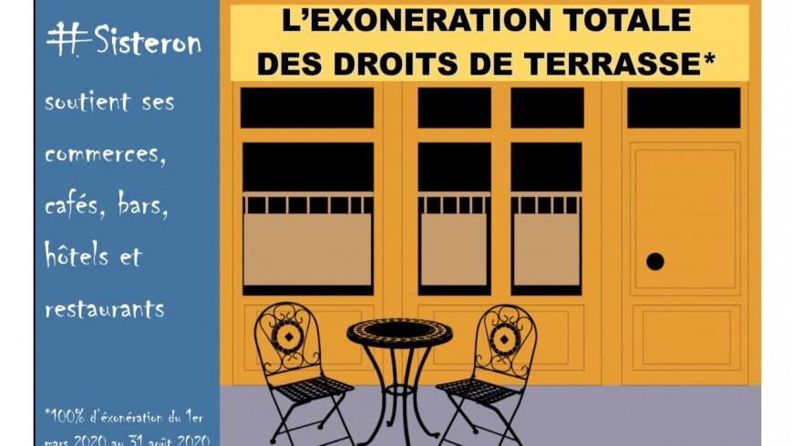 Alpes de Haute-Provence : Exonération des droits de terrasse à Sisteron.