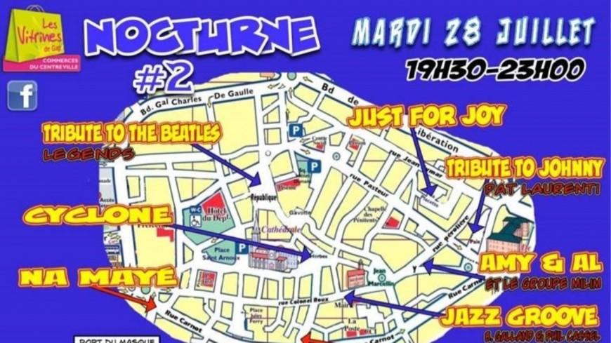 Hautes-Alpes : La NOCTURNE #2 ce mardi 28 juillet à Gap de 19h30 à 23h00.