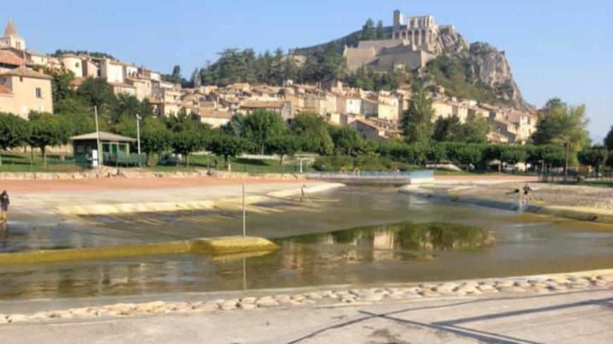 Alpes de Haute-Provence : Le plan d'eau des Marres a été vidangé à Sisteron.