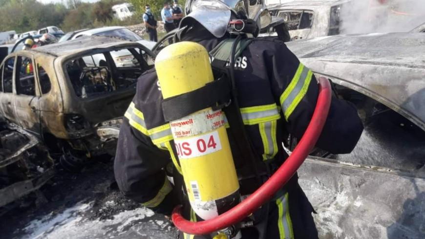 Alpes de Haute-Provence : neuf voitures partent en fumée dans une casse auto Malijai