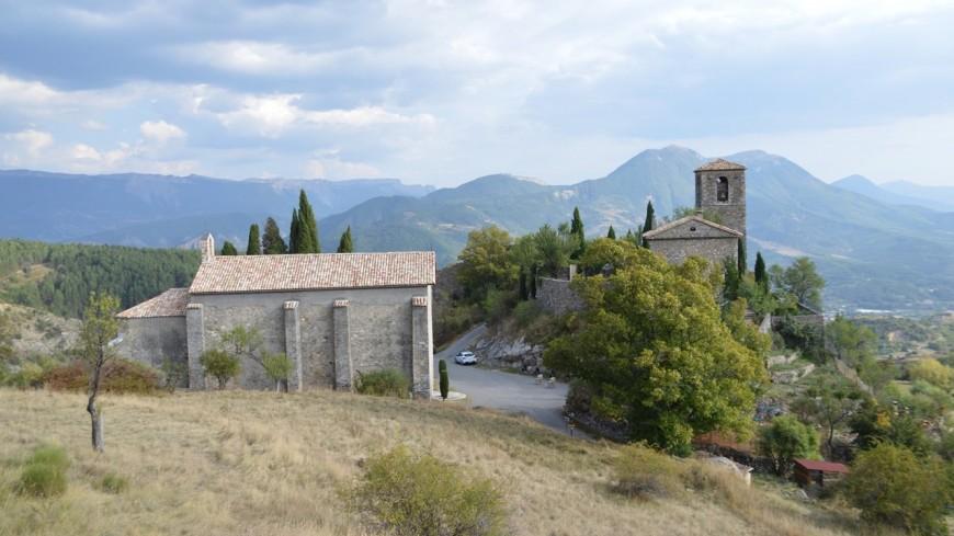 Alpes de Haute-Provence : inauguration des travaux de sauvegarde de l'église Notre-Dame des Anges de Courbons à Digne-les-Bains