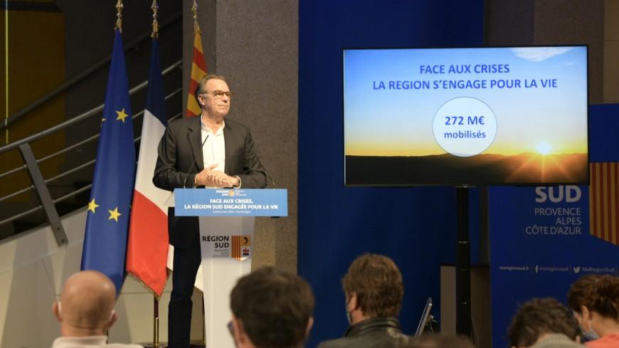 Région : 272 millions d'euros engagés face à la « crise sanitaire, sociale et économique ».