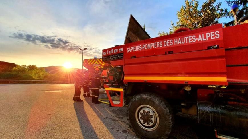Hautes-Alpes : une maison part en fumée à Gandière