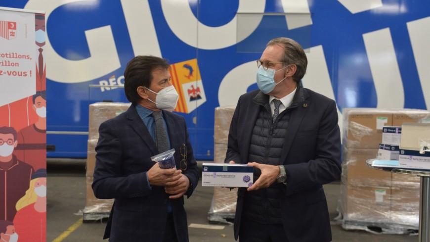 Région : 100.000 tests antigéniques rapides fournis aux pharmacies