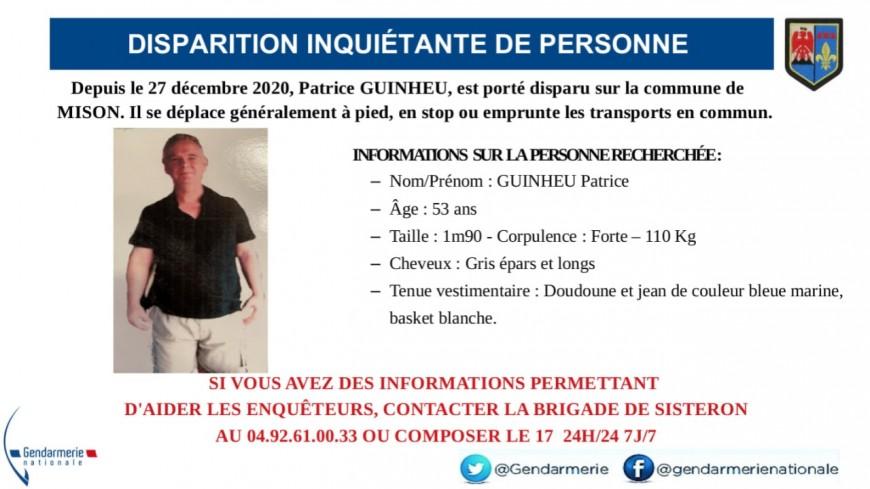 Alpes de Haute-Provence : appel à témoins après une disparition à Mison