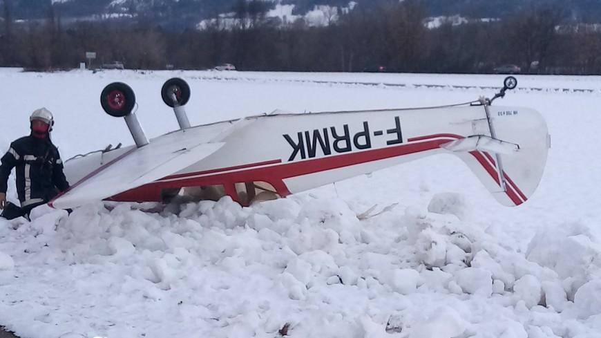 Hautes-Alpes : un avion termine sur le dos à Tallard