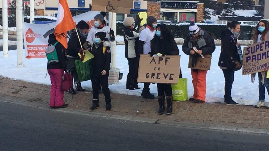 Hautes-Alpes : mobilisation à Gap contre les « inégalités » du Ségur de La Santé