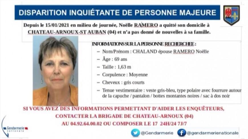Alpes de Haute-Provence : une femme portée disparue à Château-Arnoux