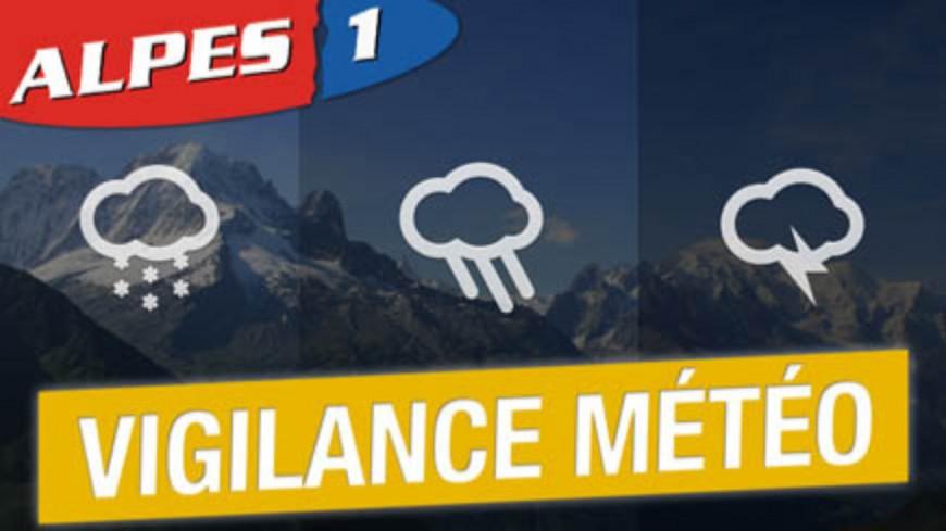 Alpes du Sud : vigilance jaune orages, pluie et inondation jusqu'à ce jeudi soir