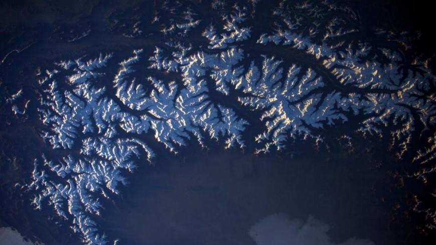 Alpes du Sud : la carte postale des montagnes vue de l'espace par Thomas Pesquet