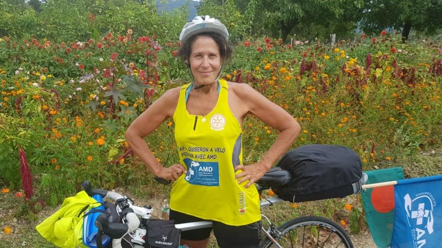 Hautes-Alpes : Gap-Quiberon à vélo, c'est parti pour Anne-Marie Dereeper