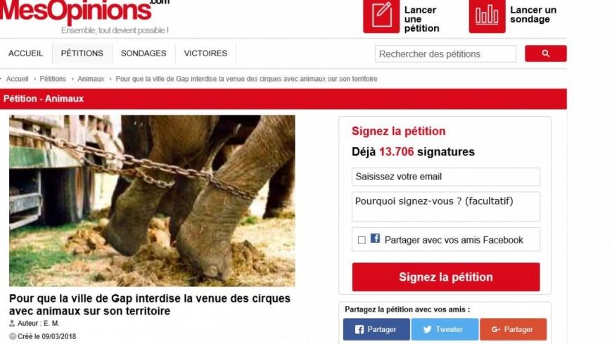 Hautes-Alpes : 14.000 signatures pour interdire les cirques avec animaux à Gap