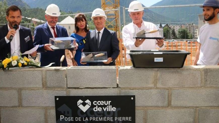 Hautes-Alpes : la première pierre de l'une des 17 résidences du projet Cœur de ville de Briançon a été posée
