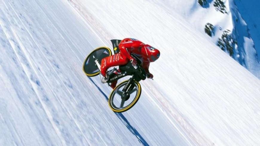 Hautes-Alpes : la tentative de record de vitesse en VTT d'Éric Barone à Vars repoussée