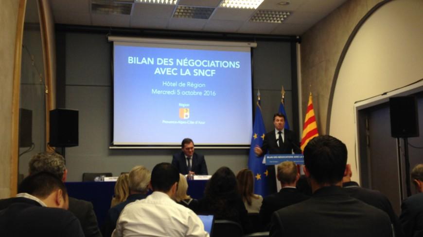 Région PACA : « Toute négociation avec la SNCF est interrompue », C.Estrosi