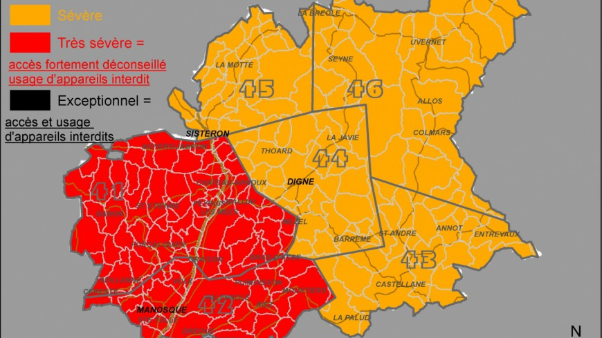 Alpes de Haute-Provence : risque très élevé de feu de forêts
