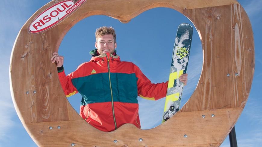 Hautes-Alpes : Kevin Mayer a dévalé les pistes de Risoul pendant ses vacances