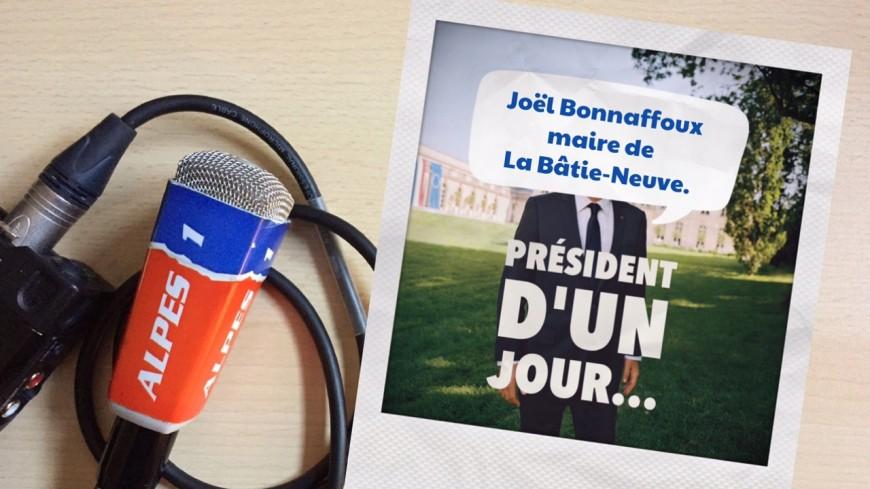 Hautes-Alpes : président d'un jour, le maire de La Bâtie Neuve, Joël Bonnaffoux