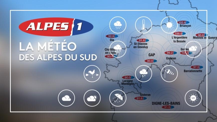 La météo des Alpes du Sud :