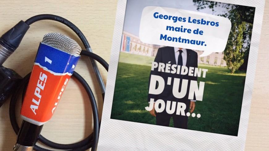 Hautes-Alpes : président d'un jour, le maire de Montmaur, Georges Lesbros