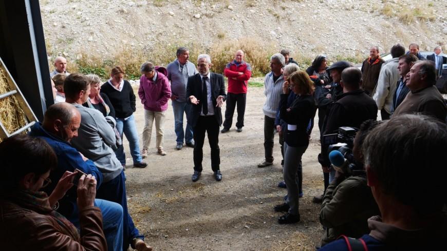 Hautes-Alpes : Xavier Doublet à la rencontre des éleveurs du Dévoluy