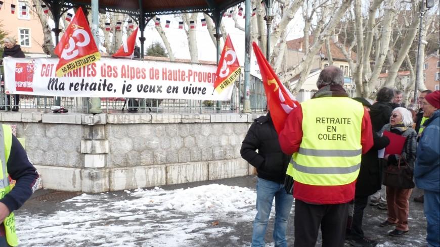 Alpes du Sud : 250 retraités ont défilé à Digne-les-bains et 100 à Gap