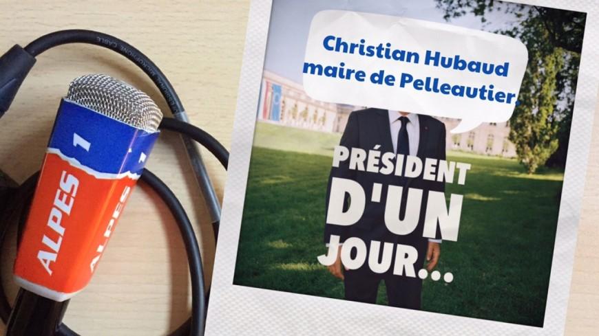 Hautes-Alpes : président d'un jour, le maire de Pelleautier, Christian Hubaud