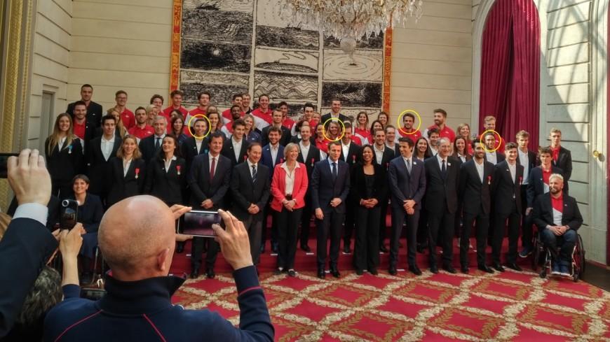 Hautes-Alpes : les médaillés olympiques rencontrent Emmanuel Macron