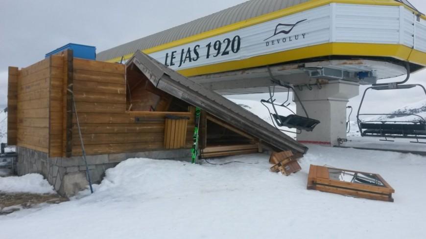 Hautes-Alpes : la tempête et des dégâts dans le Dévoluy